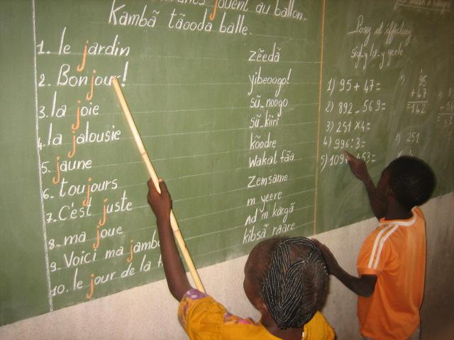 Salle de cours au Burkina Faso
